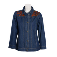 Parsley & Sage Embroidered Jean Jacket (19W257E26)