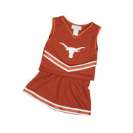 Texas Longhorn Toddler/Youth Glitter Cheerleader 2-Pc  Set (028)