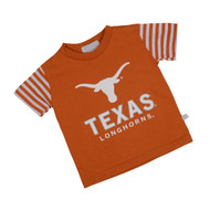 Texas Longhorn Toddler Stripe Sleeve Tee (8748)