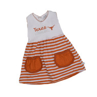 Texas Longhorn Infant/Toddler Stripe Skirt Dress (8743)