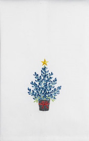 Bluebonnet Christmas Tree Towel (04SJM8675WC)