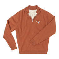 Texas Longhorn Mens' 40 Acres Merino Wool 1/4 Zip (IS75708HLS)