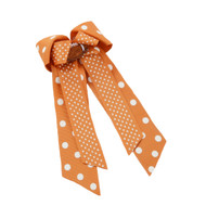 Texas Longhorn Dot Layered Hair Bow (TM261-TX)