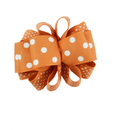 Texas Longhorn Dot Loop Hair Bow (TM264-TX)