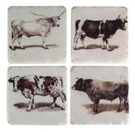 Texas Bovine Coasters (Set of 4) (RMCSBV)
