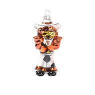 Texas Longhorn Glitter  Glass Howdy Hook 'em Ornament (526086)