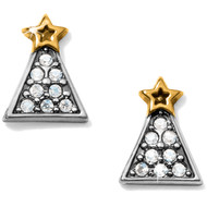 Brighton Frosted Christmas Tree Mini Post Earrings (J22252)