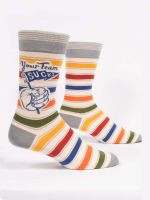 Blue Q Your Team Sucks Crew Socks (SW868)