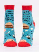 Blue Q Inner Demons Do the Darndest Things Ankle Socks (SW651)