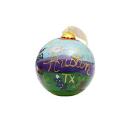 Kitty Keller Hand Painted City of Austin Icons Ornament  Script Letters 12998-g