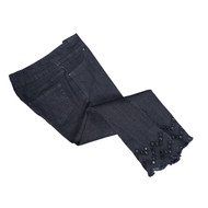 Thin Her Lattice Hem Crop Jeans (4 Colors) (N10132PM)