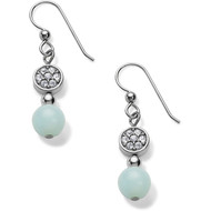 Natural Amazonite beads give these silver French wire earrings a touch of soft color. They look great paired with the matching Meridian necklace.