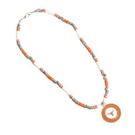 Texas Longhorn Natural Stone Necklace (CSNK22/SNL-4056)