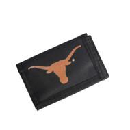 Texas Longhorn Nylon Tri-Fold Wallet (686699525095)