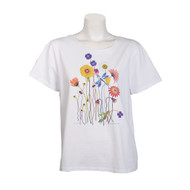 Sabaku Alone in the Garden Short Sleeve Tee (387WHTSSBT)