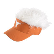Texas Longhorn Hairy Visor (VISOR-FAUXHAIR)