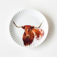 180 Longhorn Melamine Plates (Set of 4)(ME0176)