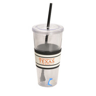 Texas Longhorn 22 oz Tumbler with Straw (365280)