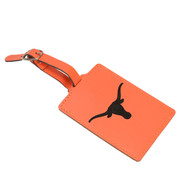 Texas Longhorn Laser Engraved Luggage Tag (LELUG260101OR)