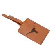 Texas Longhorn Laser Engraved Luggage Tag (LELUG260101BR)