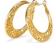 Brighton Fiji Sparkle Gold Hoop Earrings (JA6735)