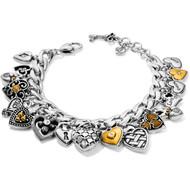 Brighton One Heart Charm Bracelet (JF7592)