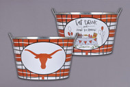 Texas Longhorn Metal Bucket (72510)