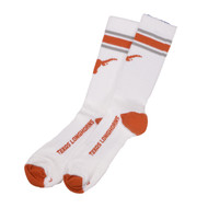 Texas Longhorn 3 Stripe Top Crew Socks (2 Colors) (LC2365)