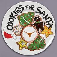 Texas Longhorn Santa Cookie Plate (52588)