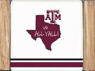 Texas ATM Stripe Coaster Set (24654)