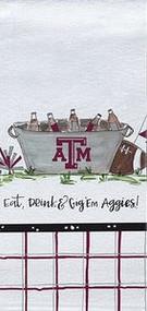 Texas ATM Eat, Drink & Gig 'Em Towel (74608)