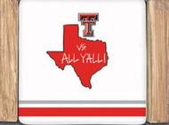 Texas Tech Striped Coaster Set (24754)