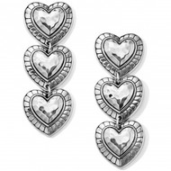 Brighton Big Sky Heart Post Drop Earrings (JA6380)