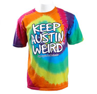 """Keep Austin Weird"" Tie Dye Tee (2116TSTD)"