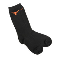 Texas Longhorn Logo Dress Socks (XMDS-BLACK)