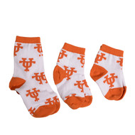 Texas Longhorn All Over UT Socks (Infant-Child) (XCTG1)