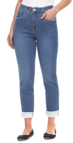 French Dressing Petite Suzanne Cuffed Straight Leg Jeans (8726953)