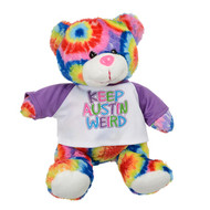Keep Austin Weird Plush Tie Dye Bear (5738TED)