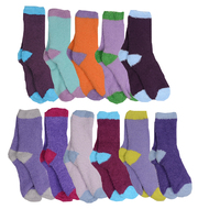Color Block Fuzzy Socks (Multiple Colors) (GRIFFIN-COLORBLOCK)