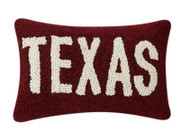 Texas in Maroon Pillow (30TG513C12OB)