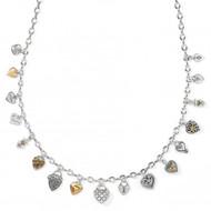 Brighton One Heart Charm Necklace (JM3712)