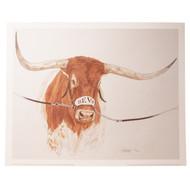 """Texas Longhorn Texas Bevo XV """"Texas Tough"""" Print (TEXASTOUGHBEVO-PRINT)"""
