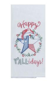 Happy Y'alliday Embroidered Towel (H3340)