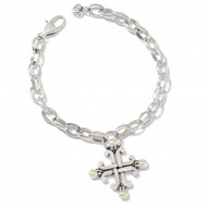 Brighton Taos Pearl Cross Bracelet (JF8063)