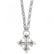 Brighton Taos Pearl Cross Necklace (JM3743)
