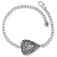 Brighton Glisten Silver Heart Bracelet (JF8131)