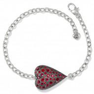 Brighton Glisten Red Heart Bracelet (JF8133)