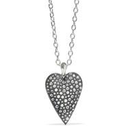 Brighton Glisten Silver Heart Convertible Necklace (JM3761)