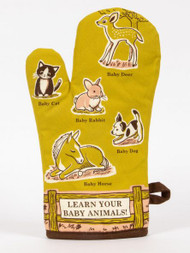 Blue Q Learn Baby Animals Oven Mitt (WW131)