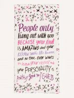 Blue Q Your Food is Amazing Screen Print Kitchen Towel (WW342)